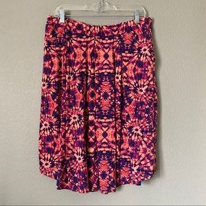 LuLaRoe Pink Purple Skirt Size 2XL